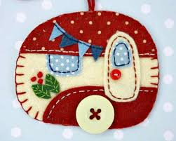 glamper felt ornament camper decor goodies pinterest