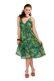 womens 100 cotton v neck mid length tropical summer dress ladies