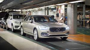 volvo sweden website first volvo v90 station wagon rolls off production line in sweden