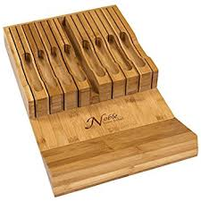 in drawer bamboo knife block without knives knife Kitchen Knives Storage
