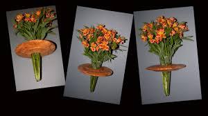 wood turned wall wood turning wall vase