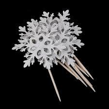 snowflake cake topper aliexpress buy 10pcs paper snowflake cake topper wedding