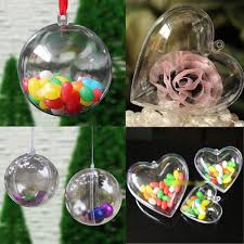 40mm 60mm 80mm 100mm heart shape clear plastic acrylic fillable