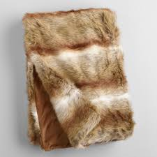 Furry Blanket Decorative Throw Blankets Chenille Faux Fur Knit U0026 Fringe