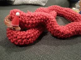 my mother in law knitted my wife u0027s snake a christmas sweater aww