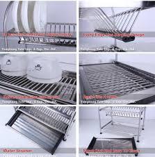 Plate Rack Kitchen Cabinet Aliexpress Com Buy 304 Stainless Steel Dish Drainer Kitchen