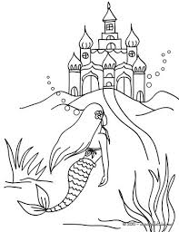 mermaid u0027s kingdom coloring pages hellokids