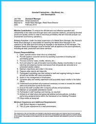 Warehouse Job Titles Resume Crafting A Great Assistant Store Manager Resume