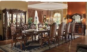Double Pedestal Dining Room Tables Acme Vendome 11pc Double Pedestal Dining Room Set In Cherry By