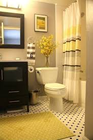 Grey And Yellow Bathroom Ideas Grey Yellow Bathroom Goes With My Black And Yellow Tile Bathroom
