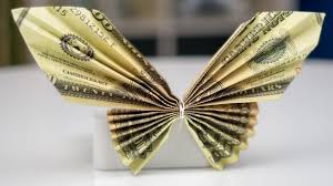 money gift idea butterfly dollar bill origami tutorial easy