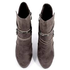 buy boots trendy black color leather boots tamaris buy boots trendy grey color leather boots tamaris
