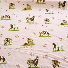 meterware stoff rasch deko stoff meterware gardinenstoff pferde pferdefreunde rosa
