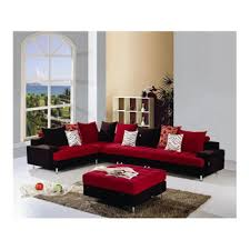red and black l shaped fabric sofa set buy l shaped fabric sofas