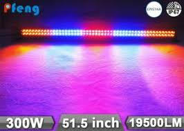 multi colored strobe light 51 5 inch 300w multi color strobe rgb led light bar with wireless