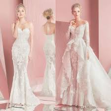 wedding dress with detachable 2016 zuhair murad mermaid lace wedding dresses sleeves