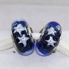 glass beads pandora bracelet images Starry night sky charms 925 sterling silver thread murano glass jpg