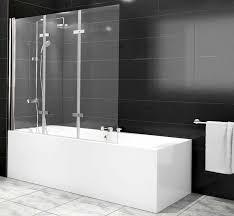 glastüren badezimmer duschabtrennung badewanne mit aufklappbaren glastüren
