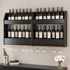 24 bottle wall mount wine rack in black bsow 0202 1