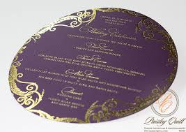 where to get wedding programs printed wedding program design options embossed foil printing uv