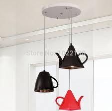 Tea Cup Chandelier Aliexpress Com Buy Modern Resin Teapot Pendant Lights Tea Cup
