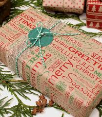 kraft christmas wrapping paper kraft printed wrapping paper kit available from razzle dazzle