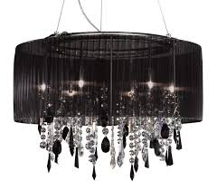black crystal pendant light kolarz paralume 6 light chrome crystal ceiling light pendant