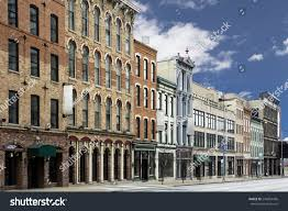 photo typical small town main street stock photo 244854436