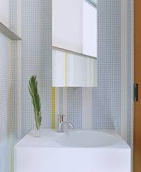 powder room tile wall modern seattle with brown towel bars