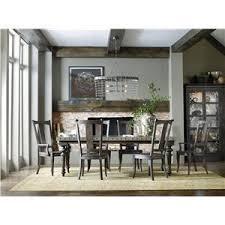 hooker furniture vintage west round single pedestal dining table