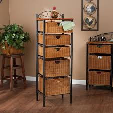 Wicker Shelves Bathroom by Furniture Wicker Storage Basket Ideas To Make Your Room More