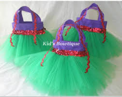 4 tutu party gift bags for a disney princess themed birthday