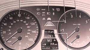 bmw service info icons bmw e60 5 series dashboard lights symbols