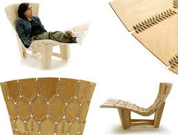 Wooden Armchair Designs Knit Leather U0026 Wood Contemporary Lounge Chair Design