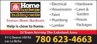 venture home hardware building centre lac la biche ab 9112