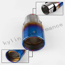 nissan altima coupe muffler burnt blue stainless steel car oval rear exhaust pipe tail muffler
