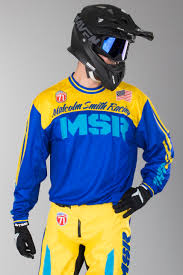 personalised motocross jersey msr legend 71 motocross jersey yellow blue now 50 savings 24mx