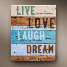 live love laugh canvas wall art live love laugh dream