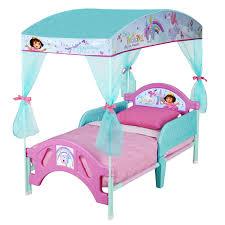 canopy toddler beds for girls dora toddler bed kids furniture ideas