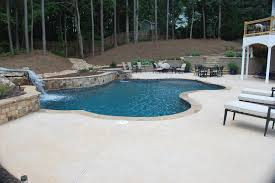 kool deck pool traditional with berm curved pool curved steps
