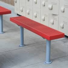 Athletic Benches Perforated Steel Pilot Rock