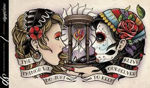 day of the dead tattoos on arm
