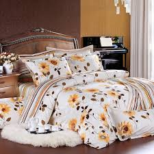 Sunflower Bed Set White And Yellow Sunflower Bedding Sets Enjoybedding