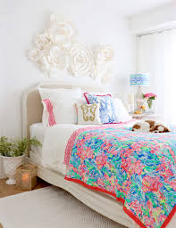 colorful bedroom lilly pulitzer pottery barn collection styled shown in my