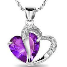 purple heart necklace images Blue purple fashion necklace for women 925 sterling silver cz jpg