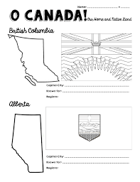 Blank Map Of Canada Provinces And Territories by O Canada Provinces And Territories Ninja Plans