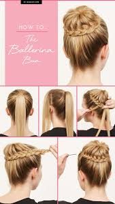 put your hair in a bun with braids how to the ballerina bun ballerina bun ballerina and pink tutu