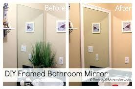 Framing Existing Bathroom Mirrors Framing An Existing Bathroom Mirror Framing An Existing Bathroom A