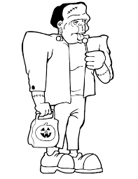 frankenstein coloring pages getcoloringpages