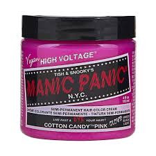 manic panic cotton candy pink hair colour 118ml the hair hub